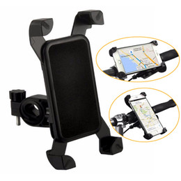 Venta al por mayor de Soporte de bicicleta Negro Funda de bicicleta para teléfono móvil Soporte de viaje Accesorio universal Soporte de plástico con 360 grados de rotación para iPhone de Samsung