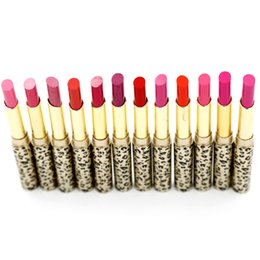 China Lipsticks Lip Stain The Balm Makeup Lot Hot Fashion Leopard 24Pcs 12colors Moisturizing Sweet Red Lip Stick Set P8505 suppliers