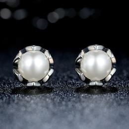 $enCountryForm.capitalKeyWord Canada - Vintage 100% 925 Sterling Silver Cultured Elegance Stud Earrings with White Freshwater Cultured Pearl Elegant Pandora Style Earrings ER022