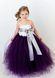 $enCountryForm.capitalKeyWord Canada - bridesmaid fluffy ball gown princess birthday purple tutu tulle baby flower girl wedding dress evening prom cloth party dresses