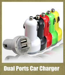 usb power port for car 2018 - usb dual ports car charger 2.1A output auto power adapter 2 interface for iphone 4 5 ipad samsung ipod colorful wall cha
