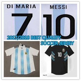 066fec3f2 2017 2018 BEST Quality Argentina soccer Jersey 17 18 MESSI home DI MARIA  AGUERO MARADONA away football shirt customize Pre salsoccer jersey