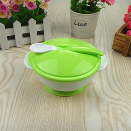 $enCountryForm.capitalKeyWord NZ - hot sale product 1 pcs new products M17085 Baby Spoon Sucker Bowl Suits Kids Training Bowl for sale