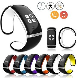 message phone 2019 - L12S OLED Touch Screen Smart Bracelet U Bluetooth Wrist Watch SMS Sync Watch Smartwatch For iPhone HTC Android Windows P