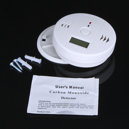 Smoke Detector Tester Canada - LCD Sensor Warning CO Carbon Monoxide Poisoning smoke Gas Alarm Detector Tester LCD