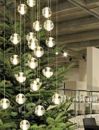 discount pendant lighting online. modern 26-36 pcs led stair lighting novelty bubble crystal ball chandelier lustres shopping mall project long g4 pendant lights lamp discount online l