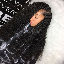 $enCountryForm.capitalKeyWord NZ - Deep Wave Full Lace Wigs For Black Women With Baby Hair Virgin Hair Wigs Bleached Knots Lace Front Long Wigs