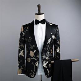 Giacche + Pantaloni Abiti di lusso da uomo Grooms Groomsman Abito da lavoro Pantaloni da uomo da uomo Estate Slim Fit Prom Mens Nero disponibile Tute 2018 in Offerta