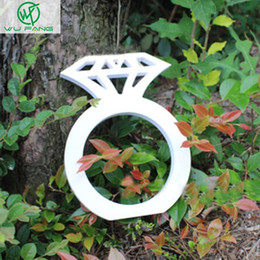 $enCountryForm.capitalKeyWord NZ - Wholesale-Wood diamond Sign Wedding Decoration Photo Booth Props Wooden Hand diamond ring Party Gifts Home accessories supplies 2sizes