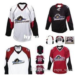 Cleveland Jerseys Canada - custom 2017 Mens Womens Kids 25 Stewart AHL Cleveland Lake Erie Monsters 100% Embroidery Custom Any Name Any No. Ice Hockey Jerseys Goalit C