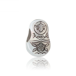 Wholesale russians doll for sale - Group buy Russian Doll Alloy Charm Bead Big Hole Fashion Women Jewelry European Style For DIY Bracelet Necklace