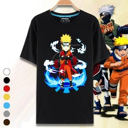 naruto red white shirt 2019 - Wholesale-Halloween Carnival Print Costumes Cartoon Casual Cotton Naruto Cosplay O-neck Short Sleeve Men Women 3D T Shir