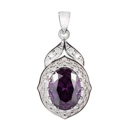 $enCountryForm.capitalKeyWord UK - 925 sterling silver Fashion Pendants Shinning Recommend Noble Generous S-3752 Sporty Amethyst Cubic Zirconia Classic Time limited discount