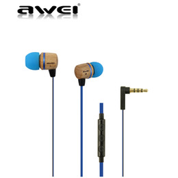 E bassEs online shopping - AWEI ES HI Wooden In Ear Earphones Metal Heavy Bass Sound Stereo Music Earphone Headset With Retail Package