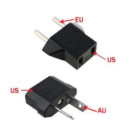 Freies Epacket, US / EU zu EU AU Wechselstrom-Stecker-Konverter-Adapter-Adapter USA zum europäischen schwarzen Plastikreise-Konverter Max 2200W zwei Stifte