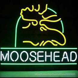 """$enCountryForm.capitalKeyWord NZ - Moosehead Lager Maine Moose Neon Sign Commercial Custom Beer Bar Lights Real Glass Tube Indoor Display Party Advertising Neon Signs 17""""X14"""""""