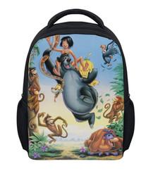 $enCountryForm.capitalKeyWord Canada - Cute The Jungle Book Printing Backpacks For Kindergarten Kids Prince And Bear School Bags Children Mochila Infantil Schoolbags