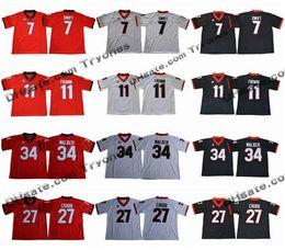 2018 Georgia Bulldogs College Football Jerseys 11 Jake Fromm 7 D Andre  Swift 27 Nick Chubb 34 Herchel Walker Black Stitched Football Jerseys c9c5f7026