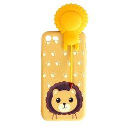 $enCountryForm.capitalKeyWord Australia - jc81 3D Cartoon Toy Sound Lion Soft TPU Cover Phone Case for iPhone 7 7 plus