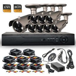 8ch Dvr Hd Canada - 8CH 1080P Realtime DVR 3 Array IR HD-CVI 2.0MP Security Waterproof Bullet Camera System