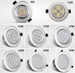 Aluminum recessed ceiling lights online shopping - Recessed Downlight W W W W W W LED ceiling light sliver shell warm white cool white AC85 V sportlight panel downlight Indoor light