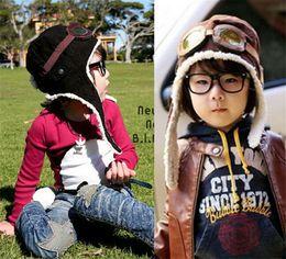 $enCountryForm.capitalKeyWord Canada - 200pcs HOT 2 colors children winter pilot hat Cute Baby for Boy Girl Kids Pilot Aviator Cap Warm Hats Earflap Beanie Melee D456