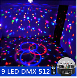 $enCountryForm.capitalKeyWord NZ - New 9 LED DMX 512 remote control beautiful magic crystal ball effect light DMX DJ disco stage lighting set 110 v - 240 v
