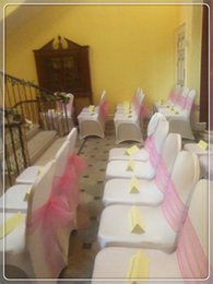 discount organza pink bows for chairs 2017 organza pink bows for