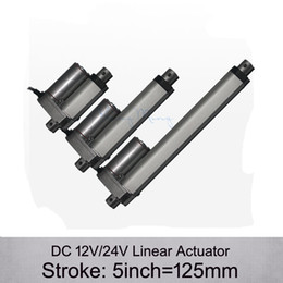 Wholesale DC V V inch mm electric linear actuator N kgs load mm s speed linear actuators without mounting brackets