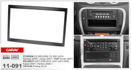 Dash facia online shopping - CARAV top quality installation surround facia trim CD dash kit for PEUGEOT CITROEN C2 C3 FIAT TOYOTA DIN