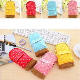 $enCountryForm.capitalKeyWord Canada - New 2017 Korea stationery Multifunctional big capacity pencil case Pink Blue Yellow Red Dot school bag pattern Cute storage box
