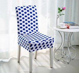 Elastic chairs online shopping - New styles Floral Printing Chair Covers Spandex White Elastic Chair Covers Colorful Printing Covers for Chairs for Wedding Dinner