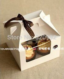 NR0004 Cookie package Muffin cupcake cups portable box bakery box biscuit box, cake box 15.5x15.5x11cm 10pcs lot