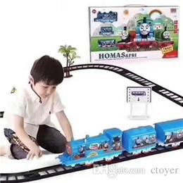 Discount electric 45 - Thoma Set 45*27*5CM Handcrafted Electric Train Thoma Set Homas&fri subway H358B-1 Boy Kids Educational Toys Christmas Gi