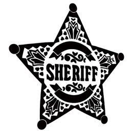 $enCountryForm.capitalKeyWord NZ - Sheriff Logo Vinyl Sticker Decal Car Auto Laptop Glass Bumper Door