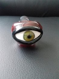 Red eye pipe online shopping - glass pipes Manufacturing Glass pipes Eyes red flame pipe High temperature glass pipes imitate real eye
