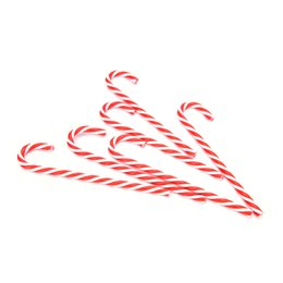christmas decorations candy cane UK - New Creative 6Pcs Set Candy Cane Ornaments Christmas Tree Hanging Decoration Festival Party Xmas Christmas Decorations For Home Decoration