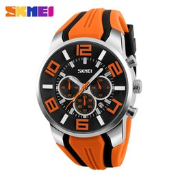$enCountryForm.capitalKeyWord Canada - Fashion Skmei Stop Watch Top brand Watches Men Silicone strap casual watches for men waterproof Quartz-watch Clock man