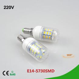 Prices Energy Saving Bulbs Canada - 5Pcs Lower Price Spotlight 3W LED Corn Bulb E14 SMD 5730 24LEDs AC 220V LED lamp Energy Saving 24 LEDs Chandelier Candle light