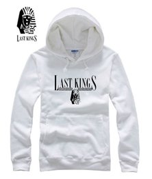 cool sweatshirt jackets Canada - Hip hop cool sportswear last kings LK sweatshirts men winter fleece jacket skateboard graphic clothing last kings hoodies
