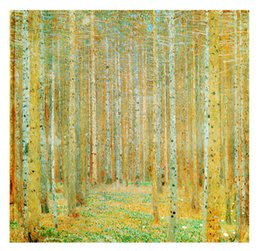 China Gustav Klimt Wall Mural Woods oil painting 3D World famous painting Wallpaper 3D Wallpaper Large wall art Gallery Bedroom Living room Decor supplier world moulds suppliers