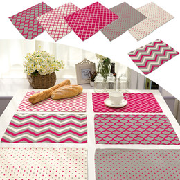 Wholesale  42x32cm Symmetrical Pattern Cotton Linen Western Pad Placemat  Insulation Cloth Dining Table Mat Coasters Kitchen Accessories Western  Kitchen ...