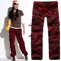 Girls Camouflage Trousers Canada - Women's Clothing Women Camouflage Cargo Pants Girls Harem Hip Hop Dance Costume Khaki Baggy Pants Plus Size XXXL Casual Trousers 9821