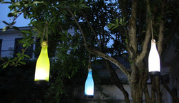 Decorative Solar Street Lights NZ - Solar bottle lights LED decorative garden ornament hanging lamp chandelier color optional decorative garden lights