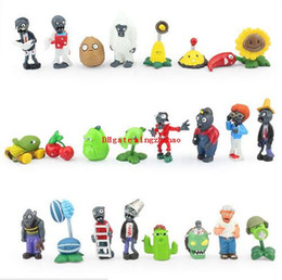 Pvz figures online shopping - 24pcs Set Plants vs Zombies Mini Figures Toys cm PVZ Plants and Zombies PVC Action Figure Collection Model For Kids Phone Accessories