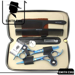Barbers Case NZ - 6.0Inch Smith Chu Best Scissors Professional Hair Scissors Cutting & Thinning Shears Salon Razor Hairdressing Barber Set with Case, LZS0009