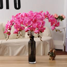 Artificielle Fleurs Real Touch Artificielle Papillon Orchidée Papillon Orchidée Pour Nouvelle Maison Maison Festival De Mariage Décoration Parti Hôtel en Solde