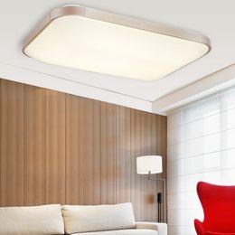 rectangular ceiling lights 2019 - High Quality Modern LED Ceiling Lights Warm White BedRoom Living Room Lamp Lighting Study Rectangular Restaurant Room Li