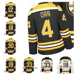 f01b91316 Youth Boston Bruins Jersey Ice Hockey  4 Bobby Orr  18 Nathan Horton  19  Tyler Seguin  33 Zdeno Chara 30 Tim Thomas Jersey Kids