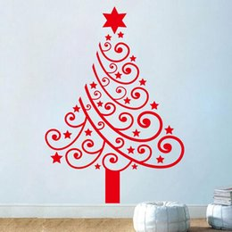 Large Removable Tree Decals Canada - Merry Christmas vinyl tree Wall Stickers removable Christmas Decal home decoration Removable decals xmas24 new year gift